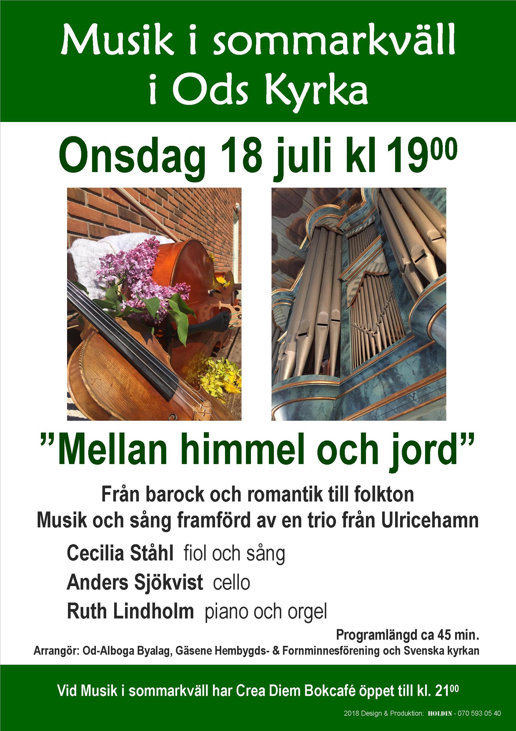 Musik i sommarkvällen i Ods Kyrka @ ods kyrka | Västra Götalands län | Sverige